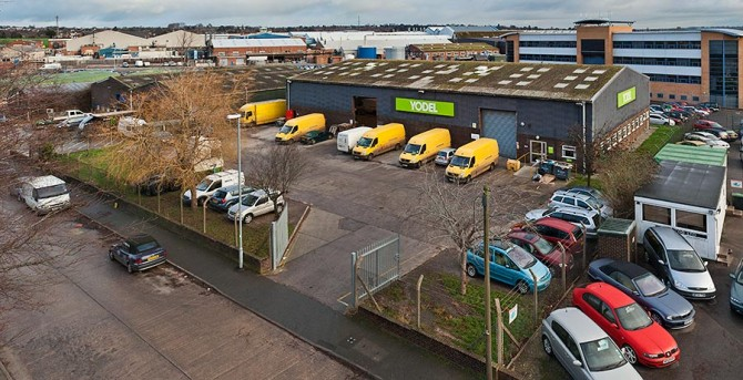 Yodel Distribution Depot in Yeovil