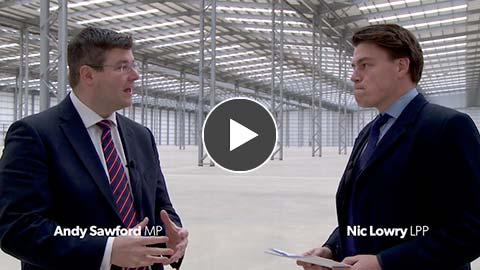 Andy Sawford MP Interview at LPP Corby